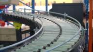 rendering of Cardboard boxes on a conveyor belt video