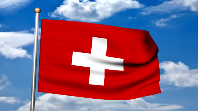 3D rendering of  the Swiss Flag HD video