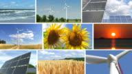 Renewable energy montage video