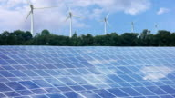 Renewable energy. Timelapse video