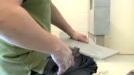 renovation - ceramic tile laying video