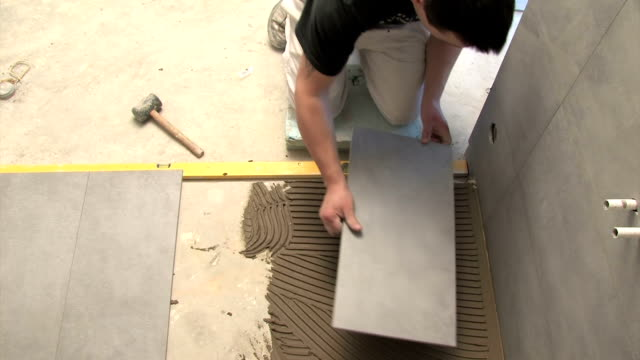 renovation - ceramic tile laying video