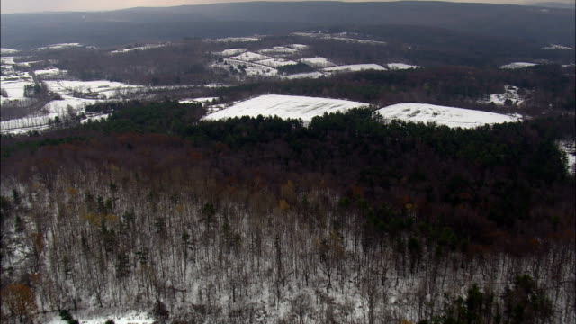 Rensselaerville State Forest - Aerial View - New York,  Albany County,  United States video