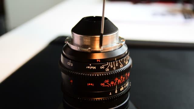 Repair lens camera. video