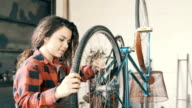 Repair of bicycles 4K video