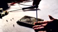 Repairing Electronic Circuits With Soldering Device video
