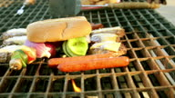 Repositioning barbecue hamburgers and buns video