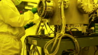 Researcher work with Protective Workwear in laboratory. video