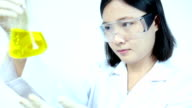 Researcher working with chemicals video