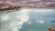 Reservoir - Aerial View - Sicily, Province of Enna, Aidone, Italy video