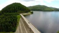 Reservoir Dam Aerial Shot video