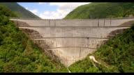 Reservoir Lake aerial view video