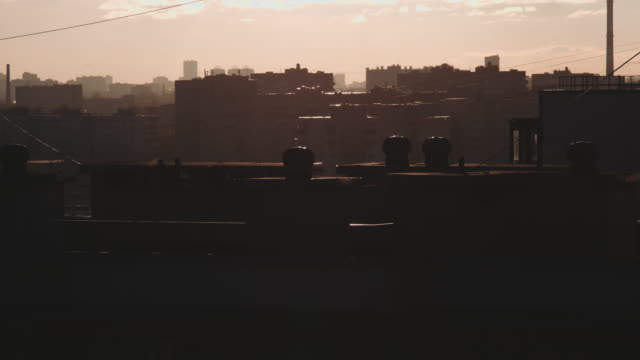 residential area at dusk video