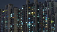 T/L CU HA ZI Residential Area at Night / Beijing, China video