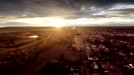 AERIAL : Residential district at sunrise video