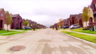 Residential estate street drive video