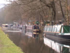 Residential houseboats on the Rochdale Canal at Hebden Bridge video