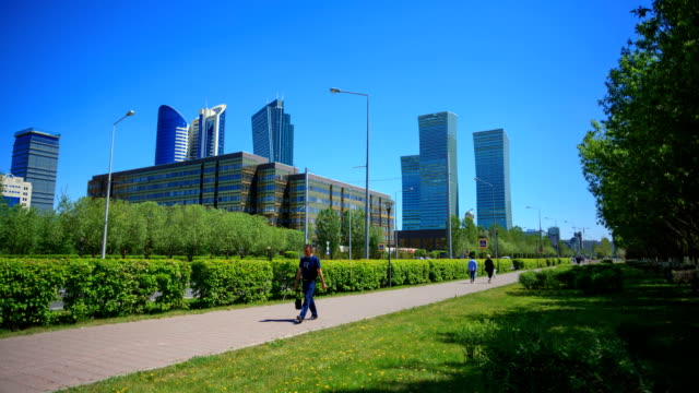 Residential houses and business centers in Astana. video