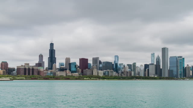 resolution Time Lapse of Chicago skyline video