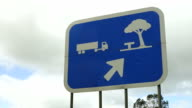 Rest stop sign (right-hand traffic) video