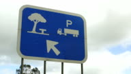 Rest stop sign (left-hand traffic) video