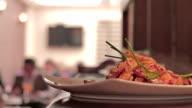 Restaurant Gourmet Noodles plate video