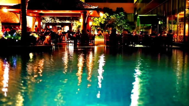 Restaurant near pool video