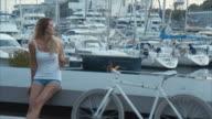 Resting at Marina Bay  (slow motion) video