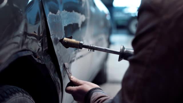 Restoration of car body video