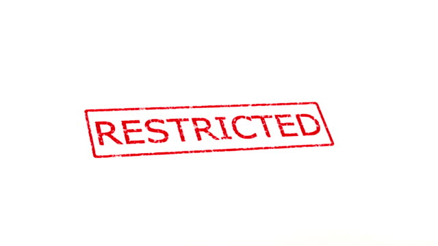 Restricted and unrestricted stamp. video