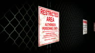 Restricted Area Sign video