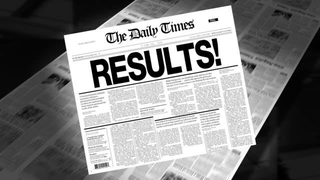 Results! - Newspaper Headline (Reveal + Loops) video