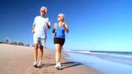 Retired Couple Keeping Fit video