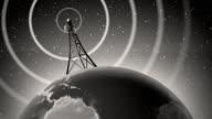 Retro Antenna Broadcasting Signal video