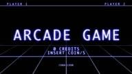 Retro Arcade Game Screen - Title Menu video