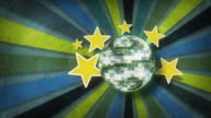 Retro Background and Discoball video