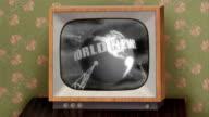Retro b&w TV set video