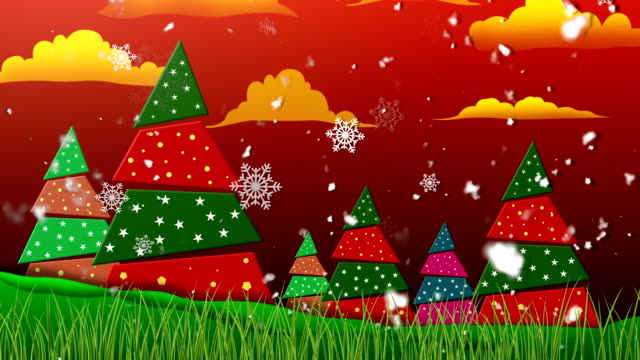 Retro Christmas 1 Loopable Background video