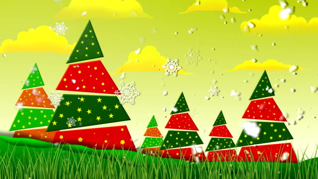 Retro Christmas 2 Loopable Background video