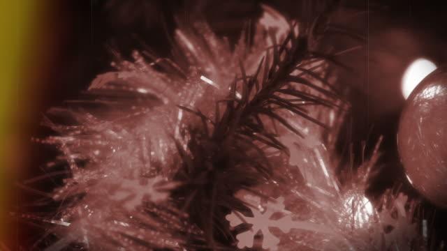Retro Christmas Film Burn video