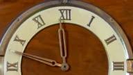 Retro clock with Roman numerals video