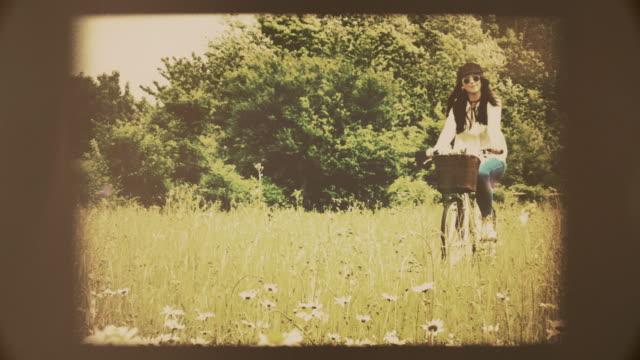 Retro cycling. Vintage look. video