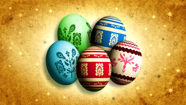 Retro Easter Eggs. video
