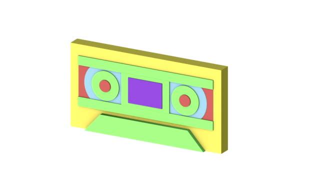 Retro electronics morphing animation v1 video