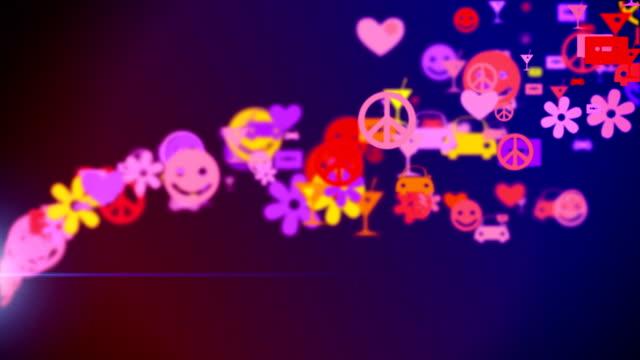 Retro icons video