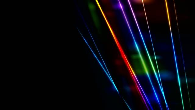 Retro neon glowing colorful laser beams video animation video