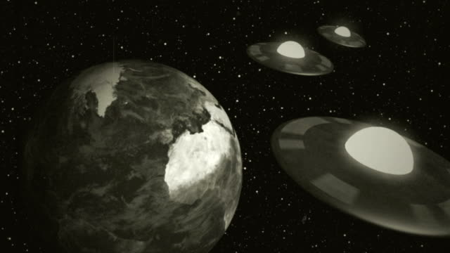 Retro Space Aliens video