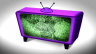 Retro Television and Static. HD video