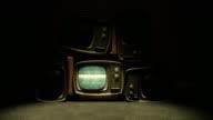 Retro TV with static V2 video