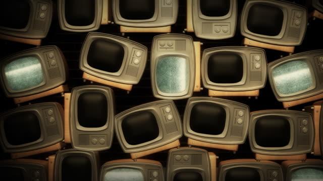 Retro TV with static V3 video